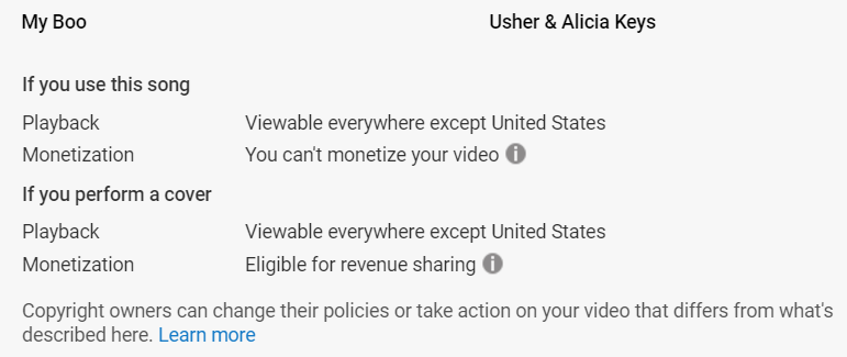 YouTube Copyright Policy for